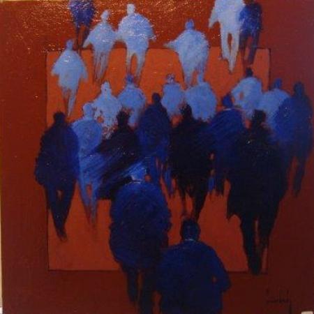 Olivier SUIRE-VERLEY - 14 60X60 BLEU