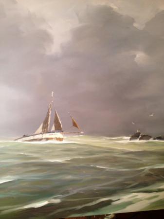 Stephane RUAIS - 2015 Côtre dans la tempête
