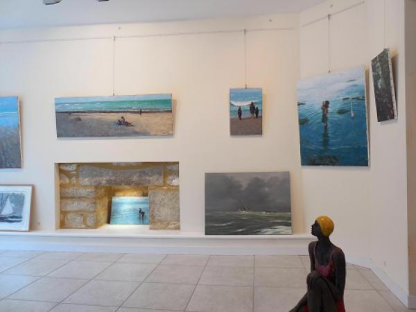 Pont l'Abbé 2015 - Raku de Sylvie DuPlessis tableaux de Ruais, MacKeown,Pendray