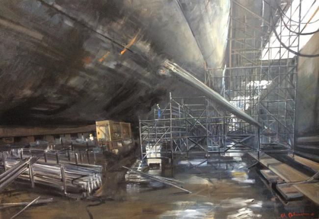 Christoff DEBUSSCHERE - 2015/86 Sous-Marin au chantier 140X210
