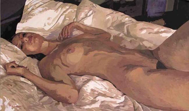 Jacques GODIN - 2016 Cette peau couleur ambre 40x70