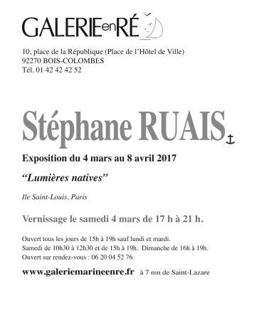 Stephane RUAIS - 2017 Carton vernissage