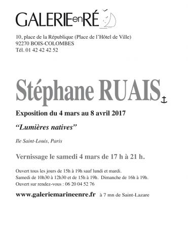 Stephane RUAIS - 2017 Carton vernissage
