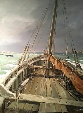 Stephane RUAIS - 2017 A bord de la Mélanie au mouillage 20P