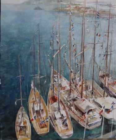 Michel BERNARD - Voiles à Toulon