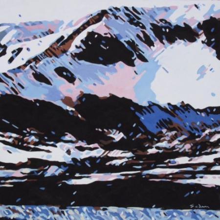 Jacques GODIN - 2020 Neige, huile sur panneau, 30 x 30 cm