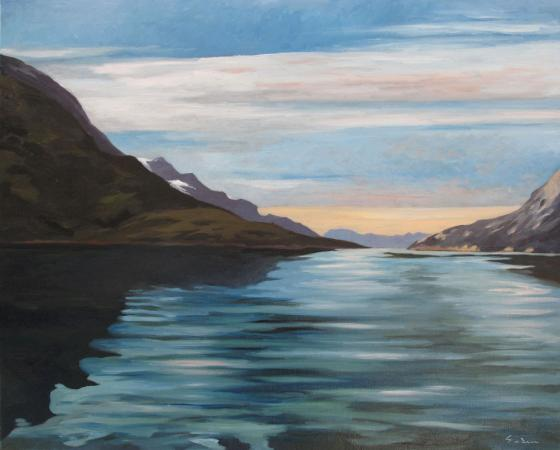 Jacques GODIN - 2020 Flow waters, huile sur toile, 65 x 81 cm
