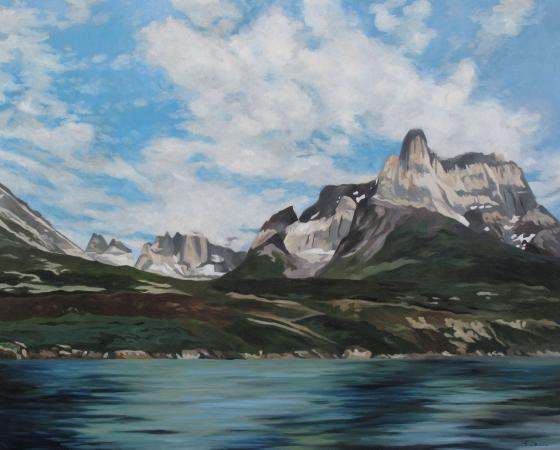 Jacques GODIN - 2020 Un château dans les nuages, huile sur toile, 130 x 162 cm