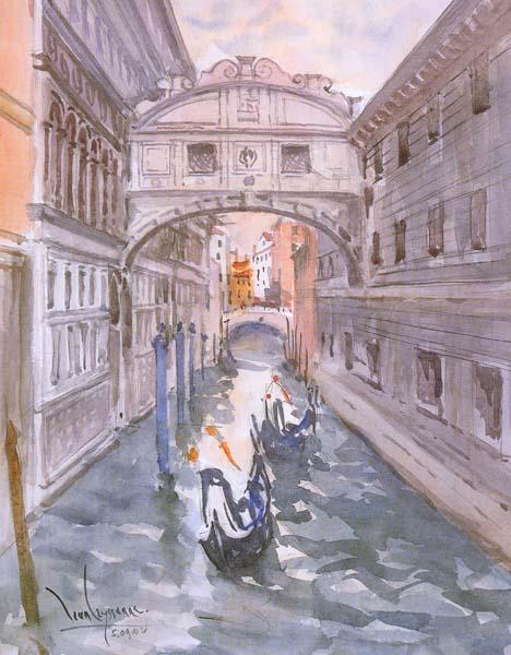Jean LEYSSENNE - Venise - Le pont des Soupirs N°51