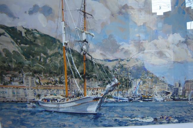Ronan OLIER - Toulon, Le Cala Millor, Nave Italia        118X79