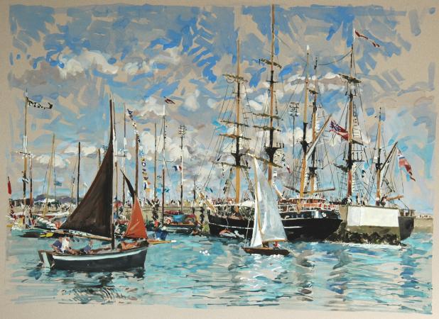 Ronan OLIER - Fêtes maritimes à Douarnenez     100X73