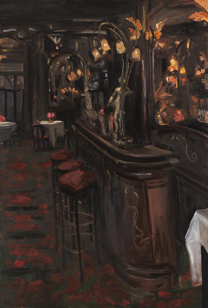 Christoff DEBUSSCHERE - 65 - Le bar et les trois tabourets - 60P (130X89 cm)
