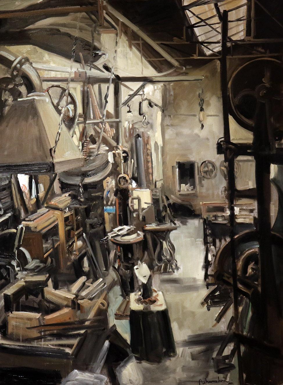 Christoff DEBUSSCHERE - 9 - La Forge - 60F (130 x 97 cm)