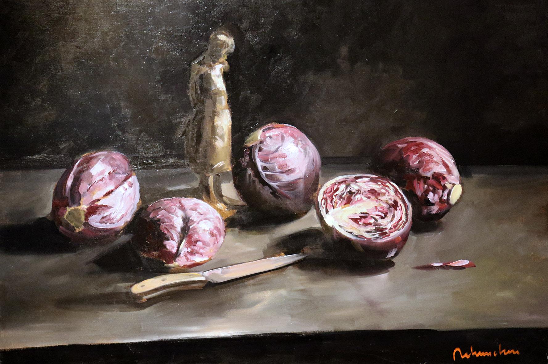 Christoff DEBUSSCHERE - 58 - Les choux rouges - 80X10 cm