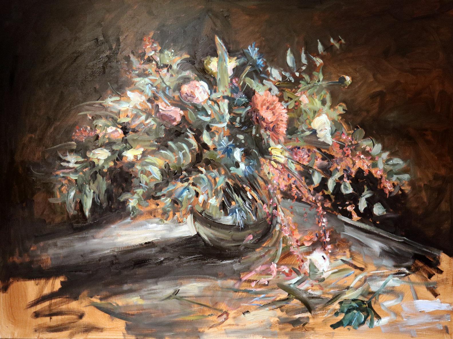 Christoff DEBUSSCHERE - 92 - Bouquet rouge - 60F (130 x 97 cm)
