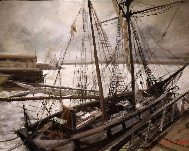 Christoff DEBUSSCHERE - 42 - Brest port de commerce - 30 (92X73 cm)