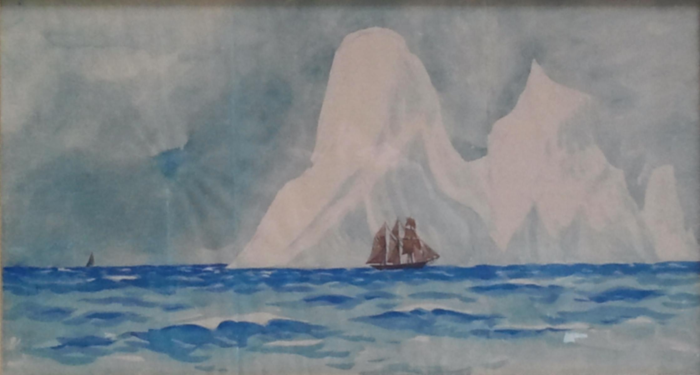 Peyrot Des Gachons Andhré-iceberg et voiliers