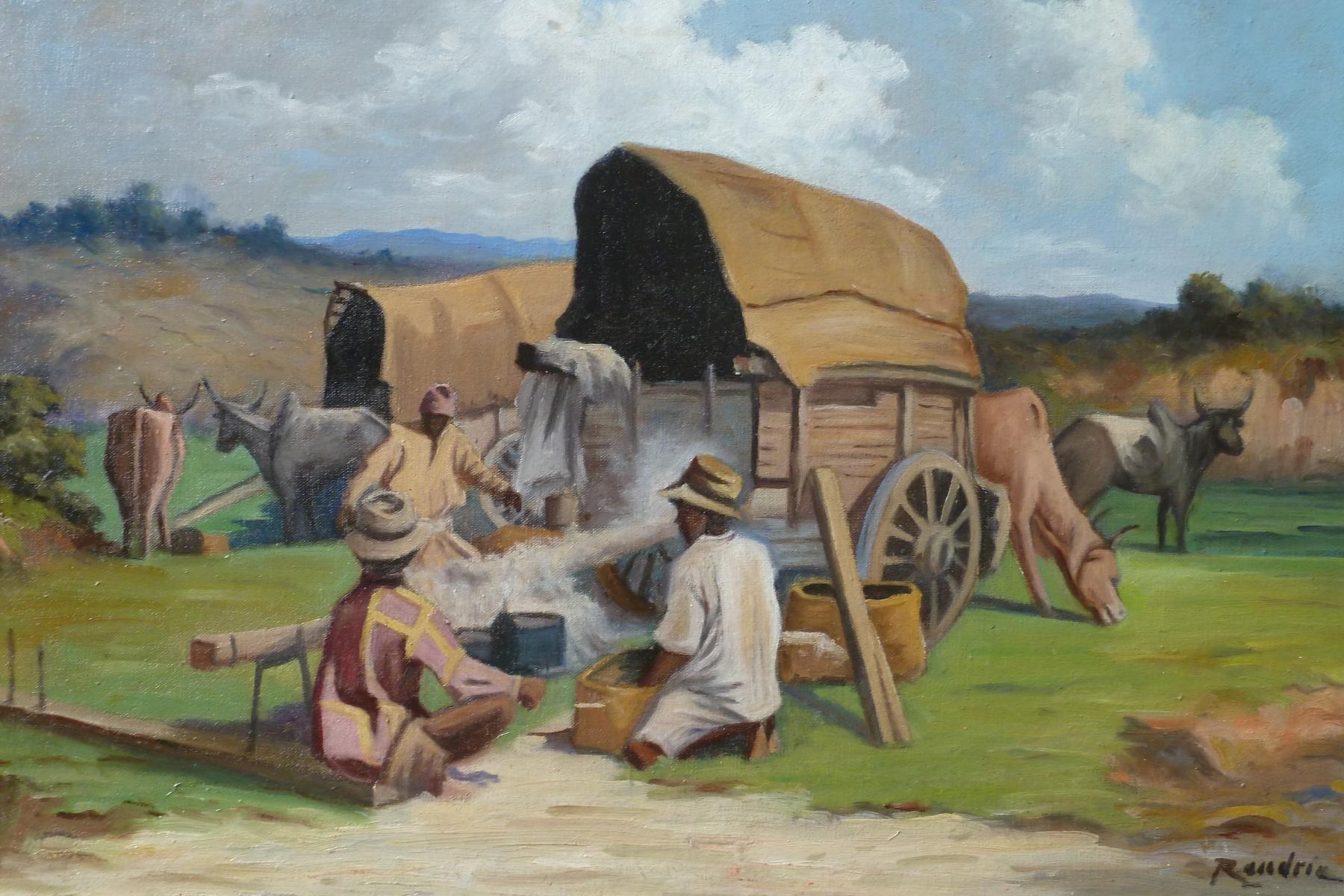 Randria scène de tri du coton à Madagascar