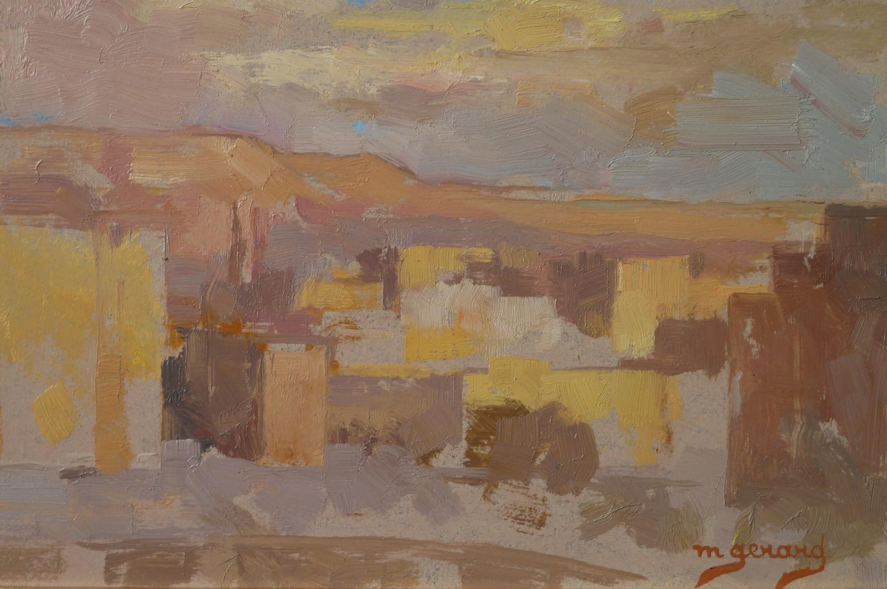 Gérard maud Le Caire coucher de soleil sur la citadelle Egypte