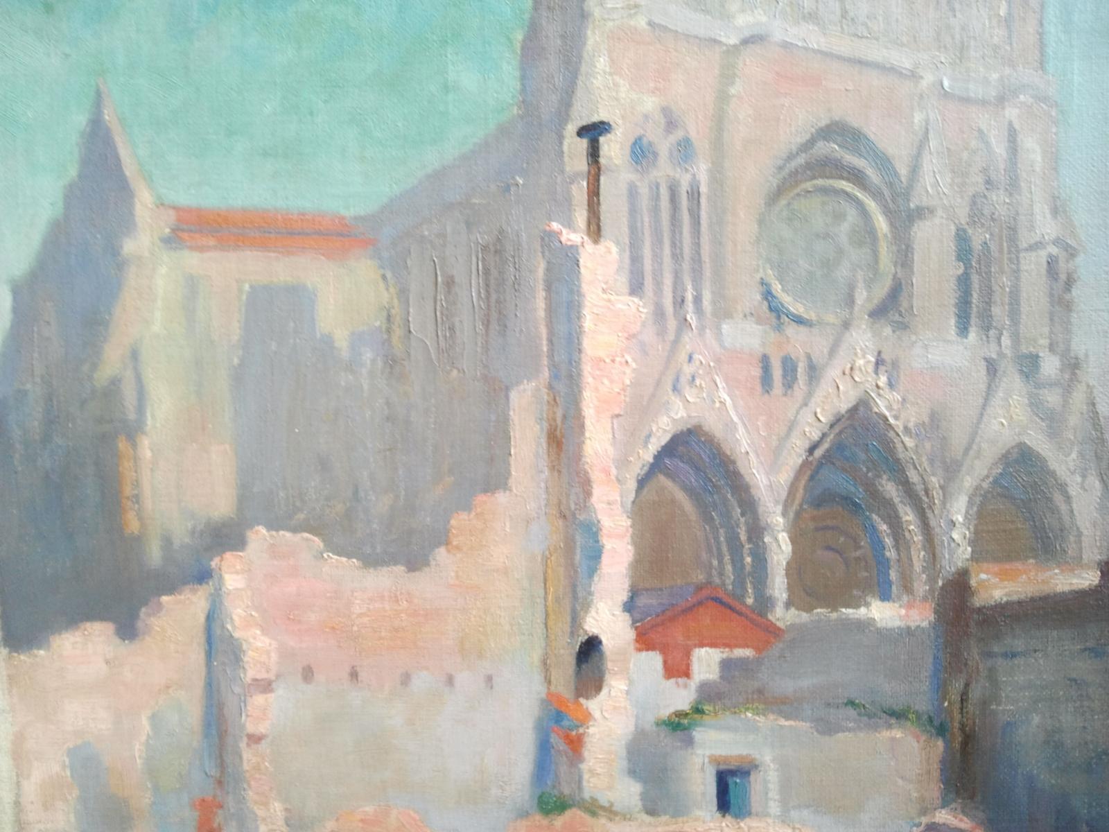 George Petrus Wilhelmus Wildschut Cathédrale de Reims après les bombardements de la Première Guerre Mondiale