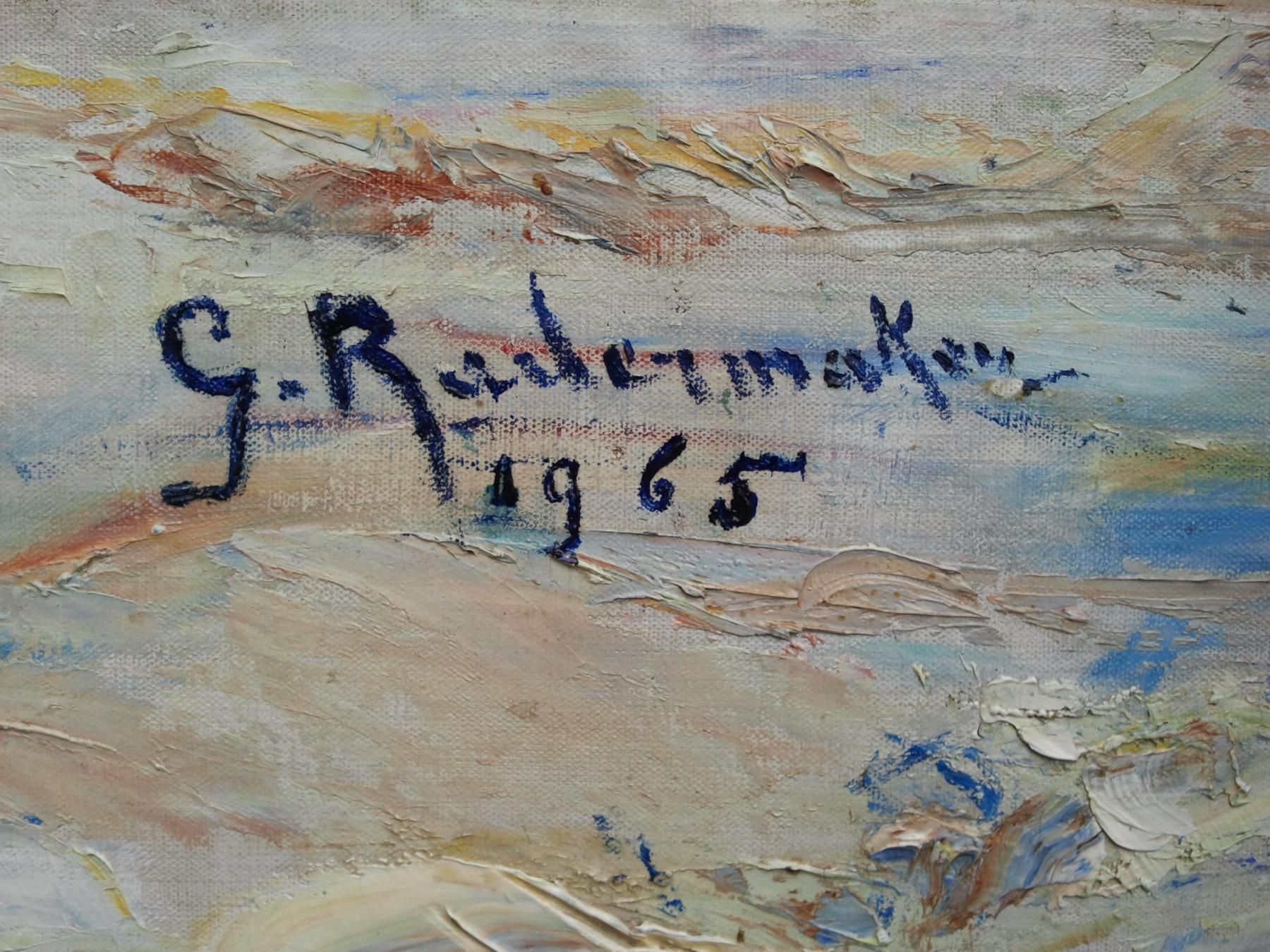 gilberte radermaker paysage asiatique signature