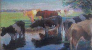 George petrus wilhelmus Wildschut vaches dans le ruisseau