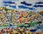 jerome pezzillo paysage multicolore avec bandes de ciel
