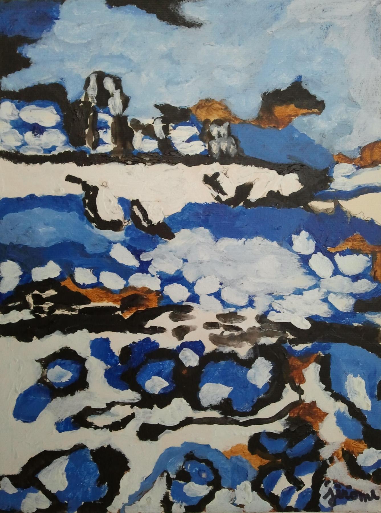 pezzillo jérôme rivage bleu et blanc