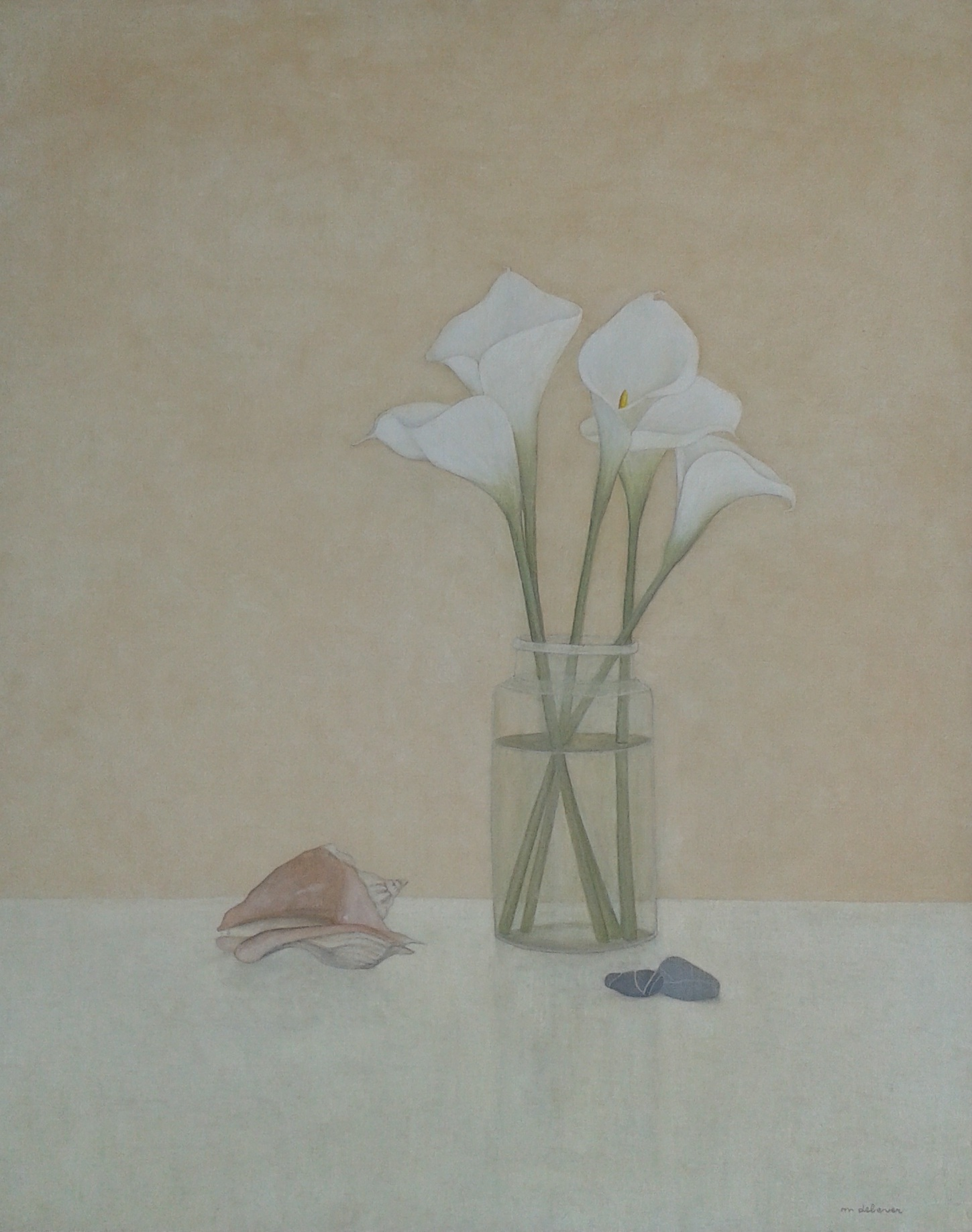 m debever Bouquet d'arums néo Morandi