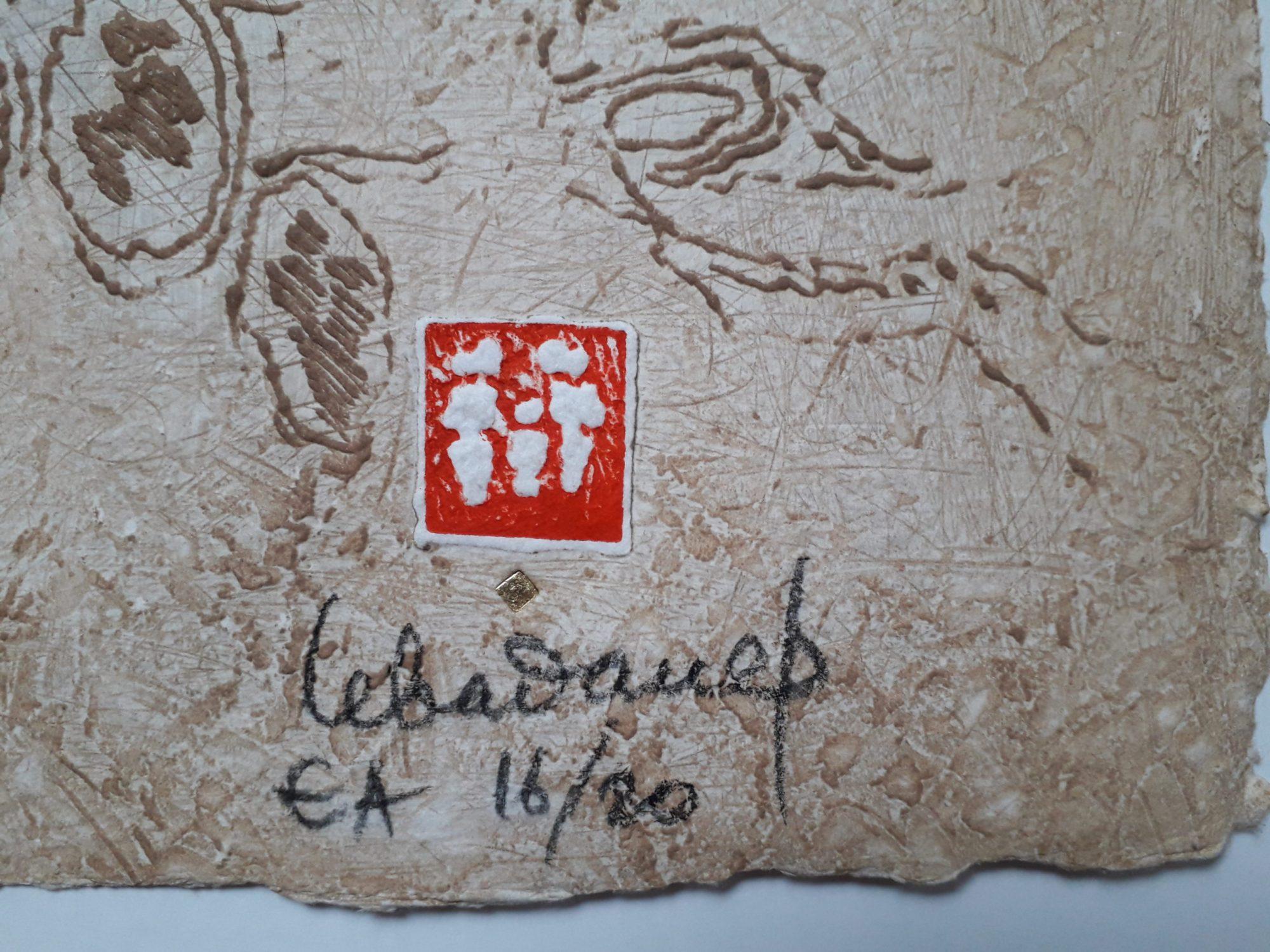 lebadang composition aux chevaux lithographie signature