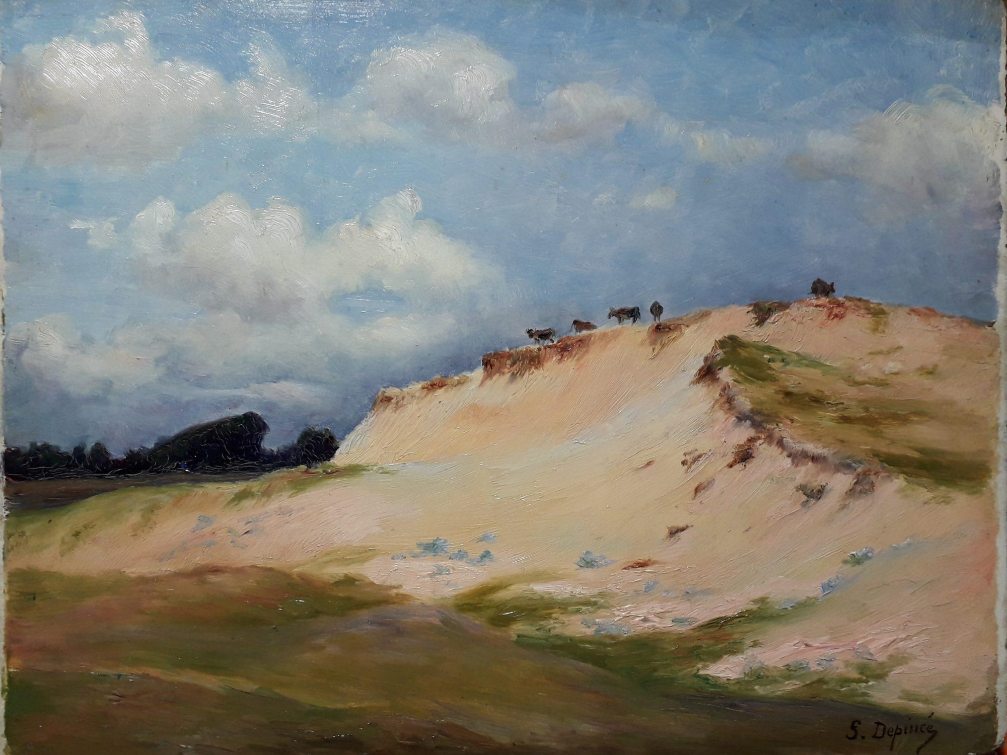 depince suzanne dune du pouldu vaches
