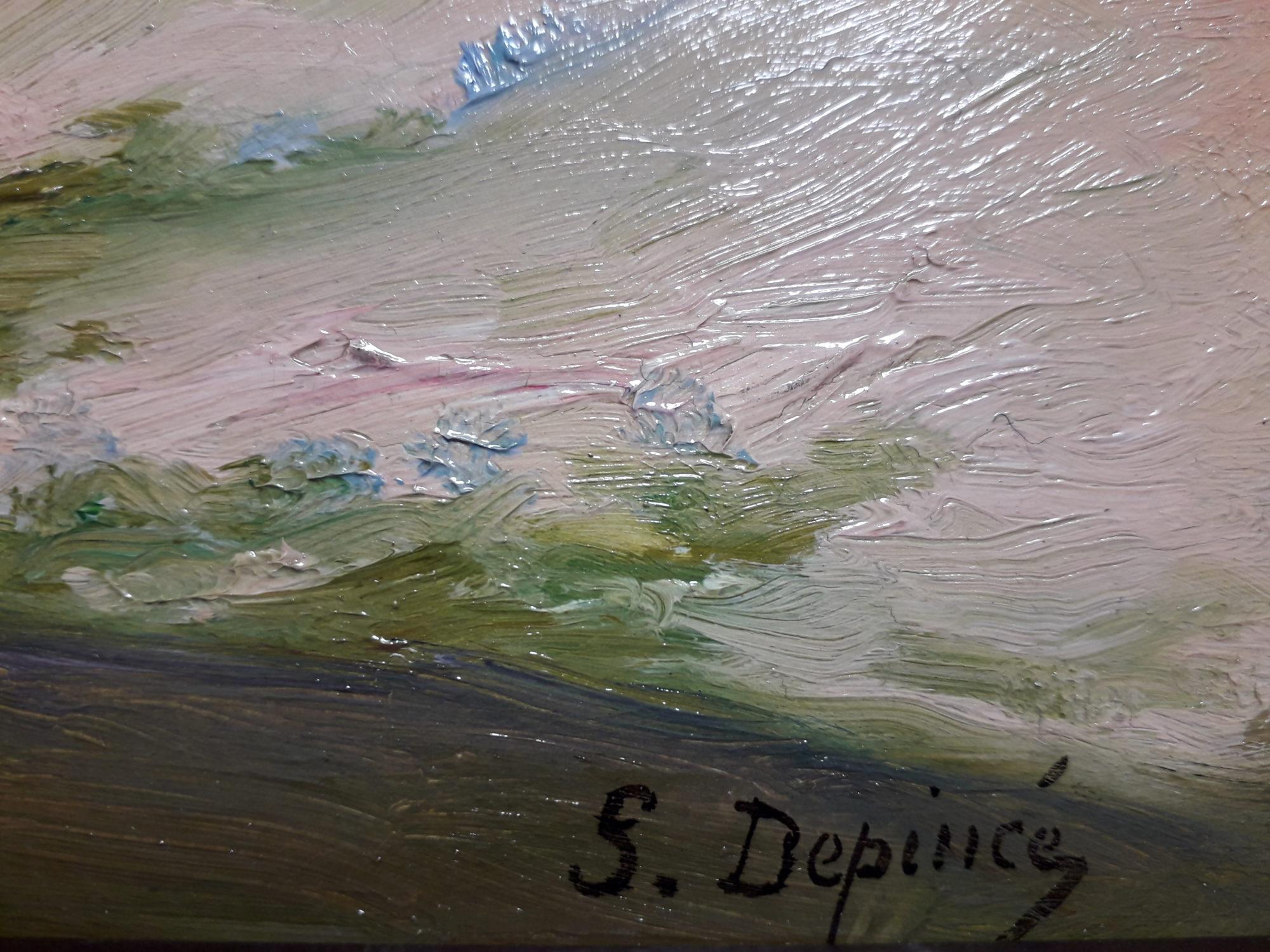 depince suzanne dune du pouldu vaches signature