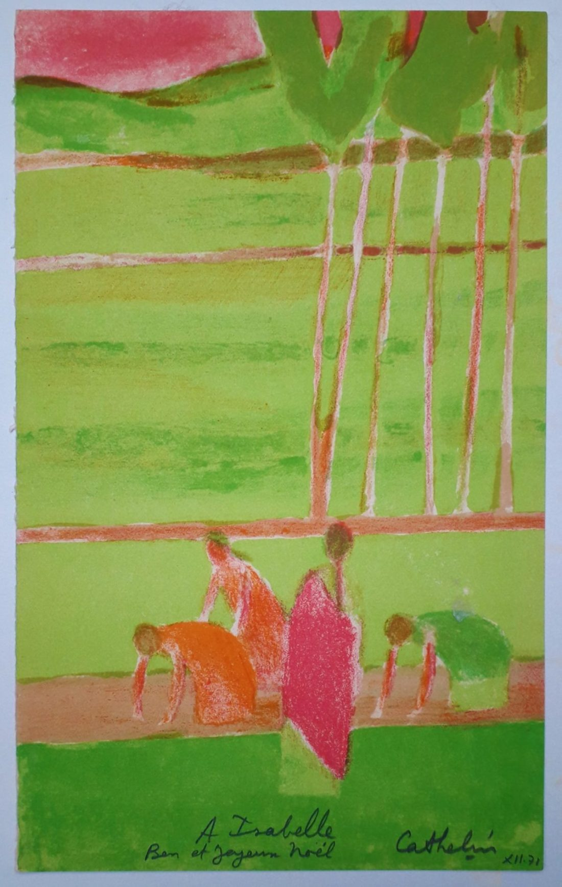 cathelin-bernard-riziere-a-ceylan-1971-lithographie