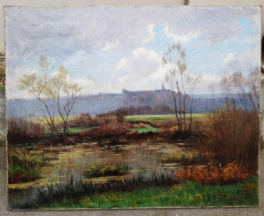 Louyot Henri paysage de Liverdun en Lorraine