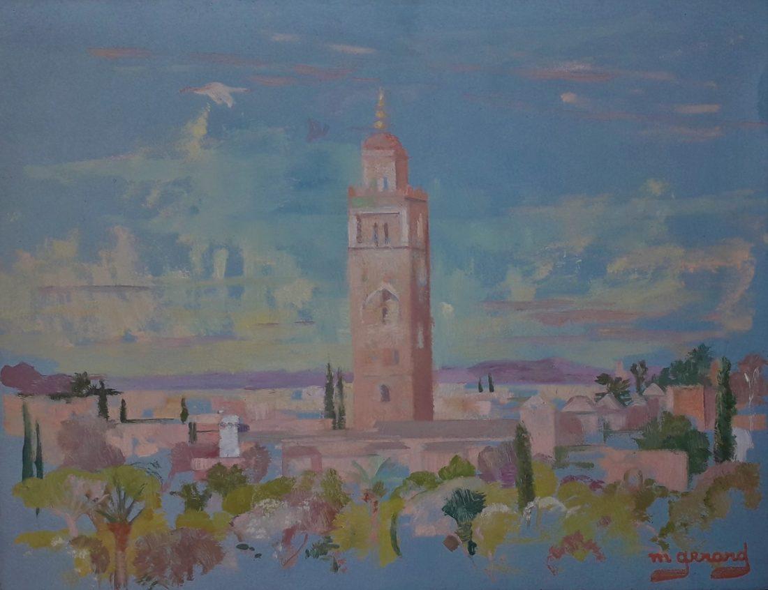 Gerard-Maud-vue-Koutoubia-Marrakech-hotel-Mamounia-1969