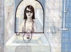 La Dame au collier de perles (2) Acrylique. 26x19cm. 180 euros