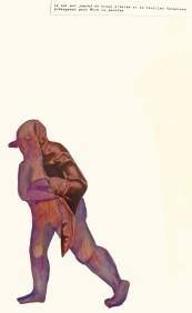 La passion. Collage et crayons-de-couleurs.30X40-cm