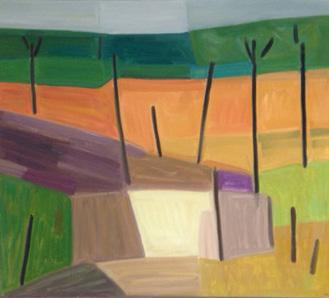 2016, Rasmussen, Roussillon II, 80x90 cm, huile sur toile