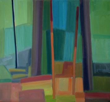 2015, Rasmussen, La forêt III, 60x65 cm, huile sur toile