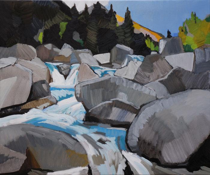 2011, Dekkers, Torrent des Glaciers, 100x120 cm