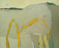 2015, Graff, Sage et tranquille, 65x54 cm, acryl. sur toile, Vendu