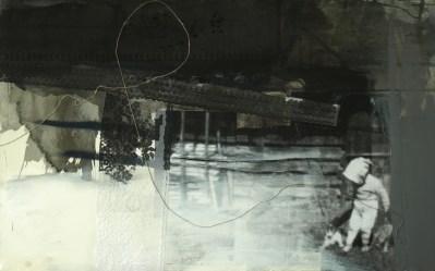 2015, Kosinska-Maslejak, Le récit, Huile et colage sur toile, 125x200 cm, Disponible à la Réserve