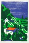 2012, Petersdorff, Im Piemont, Gravure sur bois,