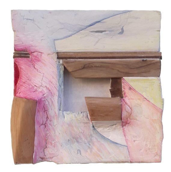 Lena Franolić - Fragmenti vremena / Fragments of Time / Fragmente der Zeit 2020 (reljef - drvo, kit za drvo, akril / relief - wood, putty, acrylic / Holzrelief, Holzkitt, Akryl)