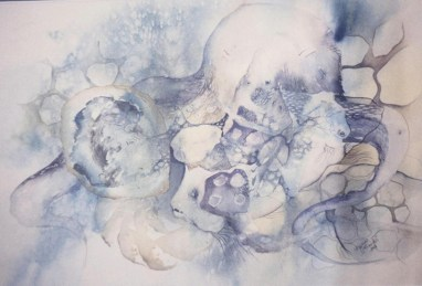 Dagmar Franolić - Hobotnica / The Octopus / Der Octopus, 1989, akvarel / watercolour / Aquarelle, 45 x 65 cm