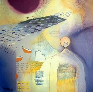 Dagmar Franolić - Putovanje / Travel / Die Reise 2014, akril na platnu / acrylic on canvas / Acryl auf Leinwand, 29 x 29 cm