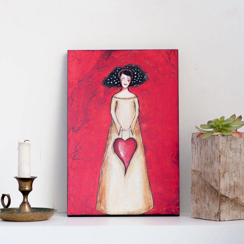 Slika srce-Lady art talk