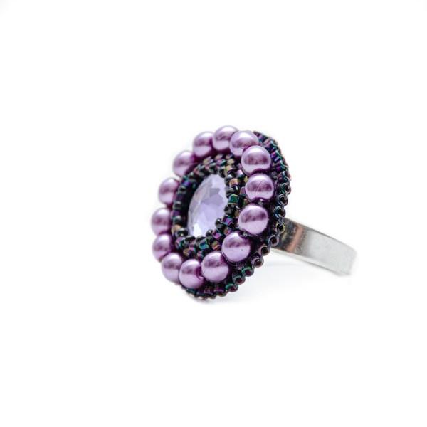 prstan iz perlic prelest vijoličen majhen