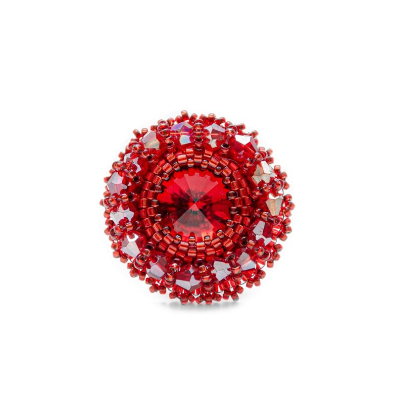 rdeči prstan perlice