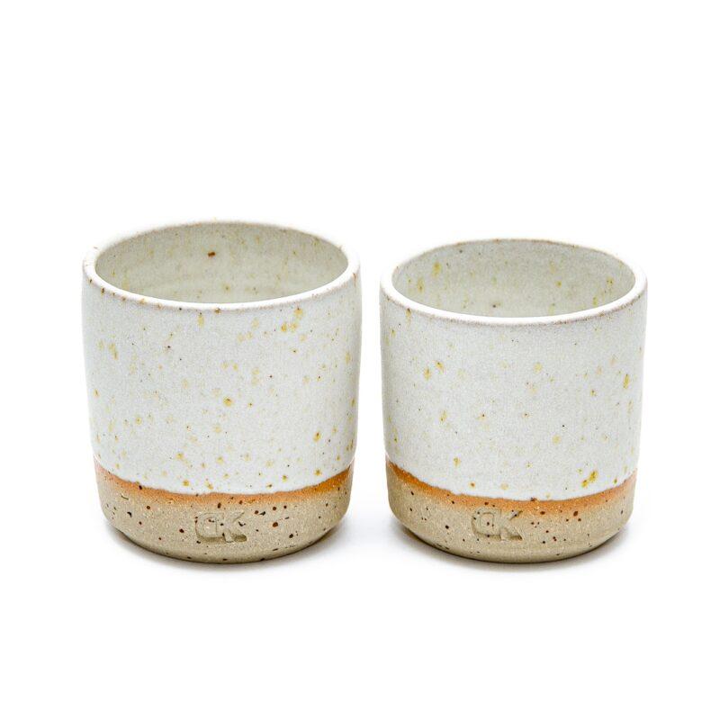 Bela mini skodelica brez ročaja, Daša's pottery